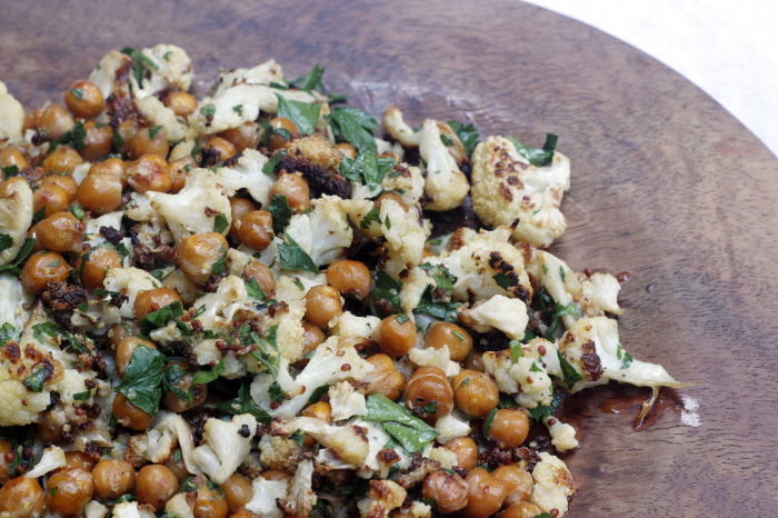 Roasted Cauliflower & Chickpea with Mustard Vinaigrette